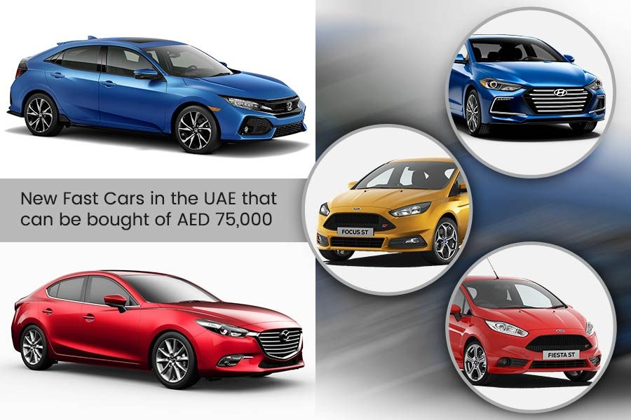 New Fast Cars in the UAE that can be bought of AED 75,000