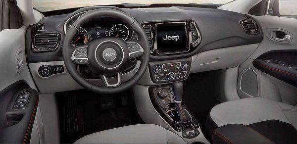 Interior of 2017 Jeep Compass